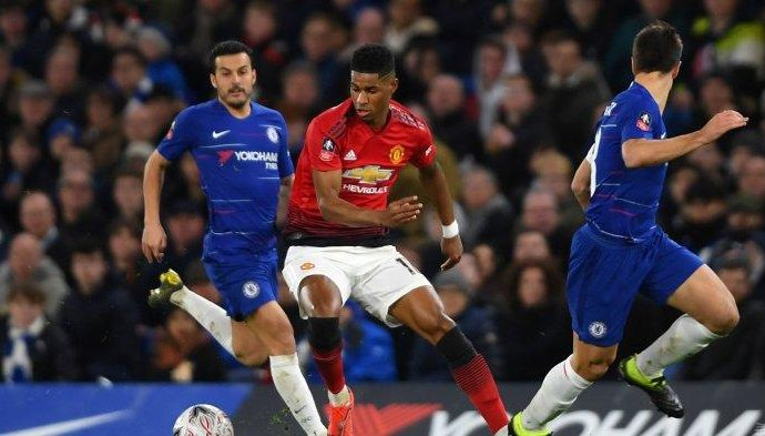 The Blues Dilibas The Red Devils di Piala FA