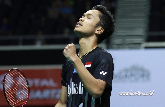 Antony Ginting Lawan Kento Momota di Final Singapore Open 2019