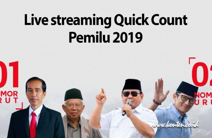 Link Live streaming Quick Count Pemilu 2019