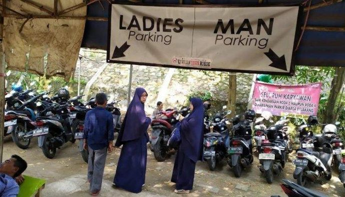 Di Indonesia Jadi Polemik, di China Ladies Parking Hal Biasa