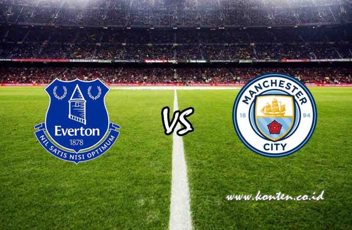 Link Live Streaming Everton vs Manchester City di HP