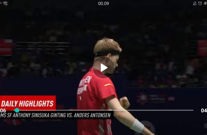 Cuplikan Pertandingan Ginting Vs Antonsen Semi Final China Open 2019